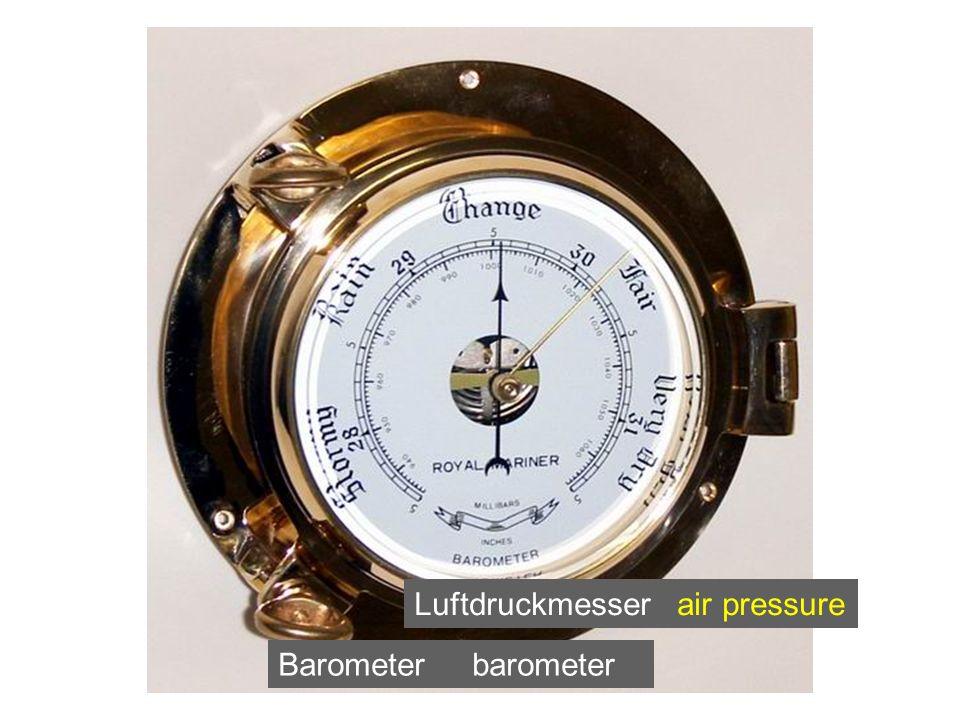 Barometer barometer Luftdruckmesser air pressure