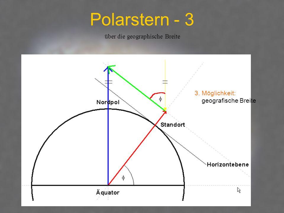 Polarstern - 3 3. Möglichkeit: geografische Breite über die geographische Breite