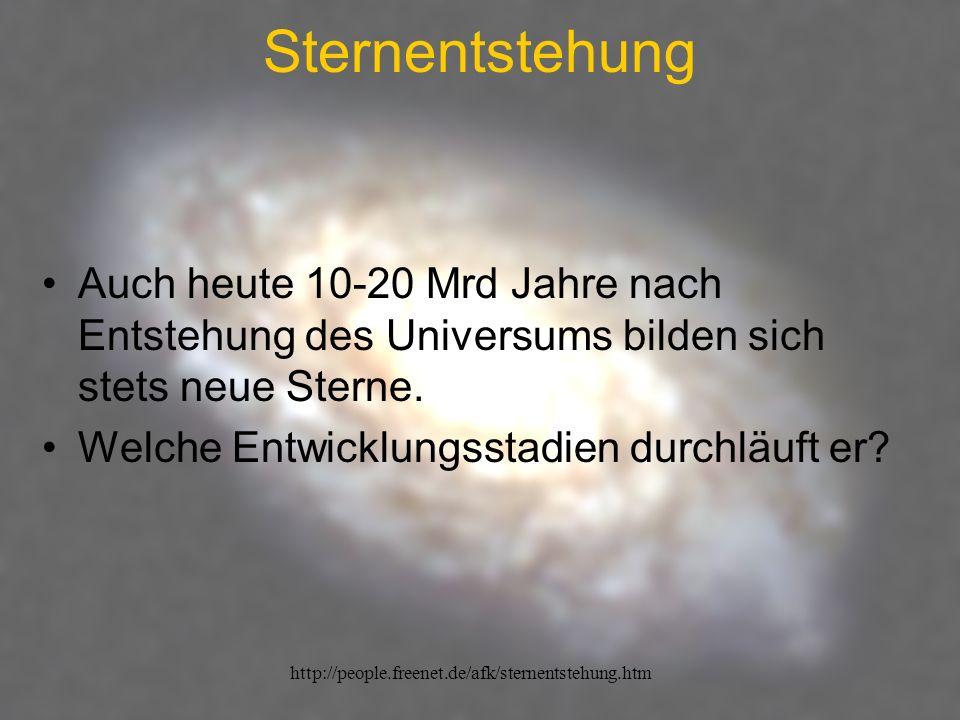 http://people.freenet.de/afk/sternentstehung.htm Sternentstehung Was ist so ein Stern überhaupt.