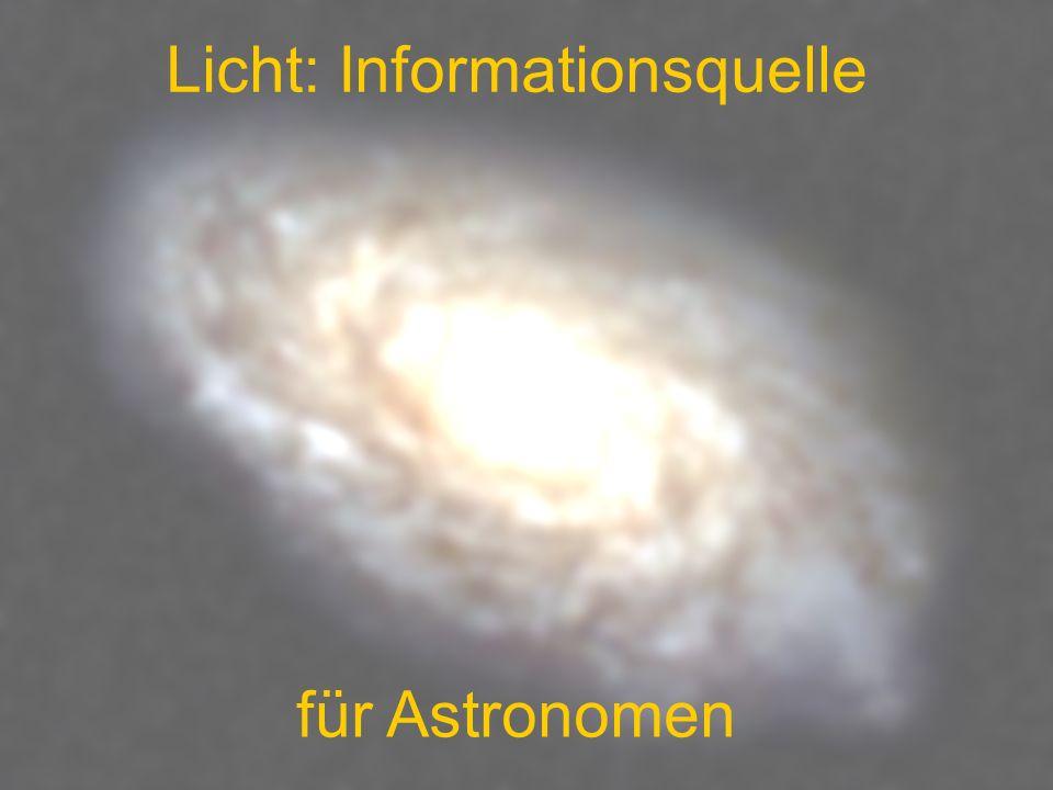 Licht: Informationsquelle für Astronomen