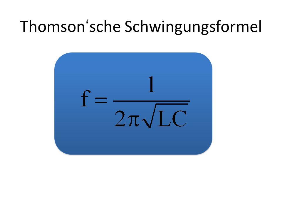 Thomsonsche Schwingungsformel