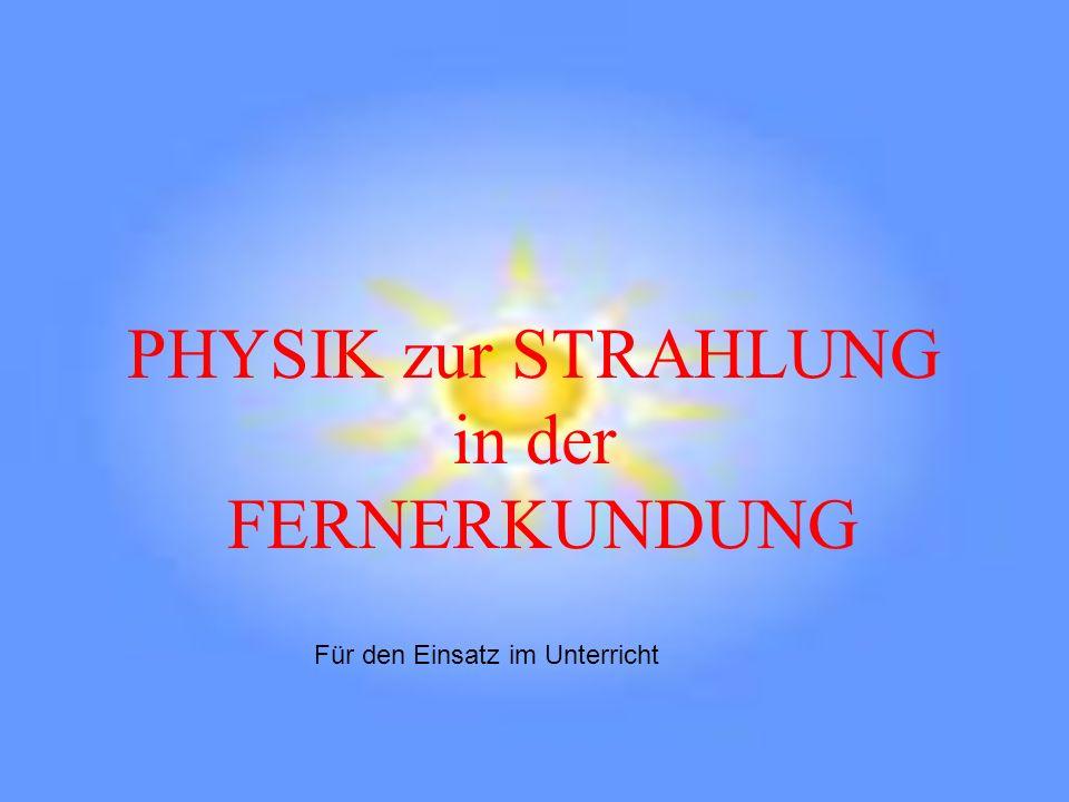 LEHRZIELE In der Fernerkundung kommt man ohne Physik nicht aus.
