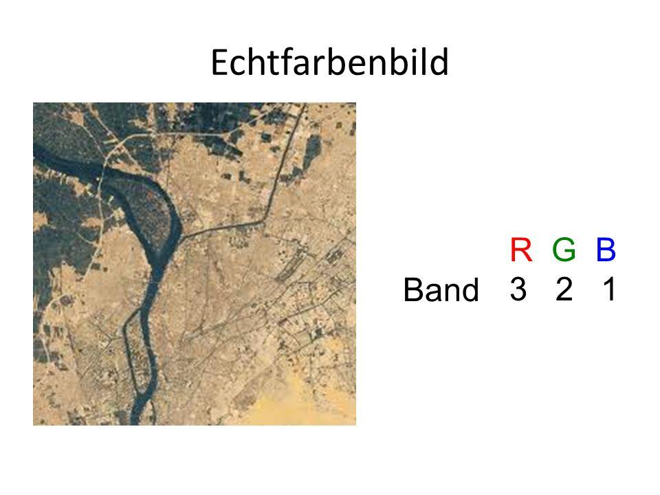 Echtfarbenbild R G B 3 2 1 Band