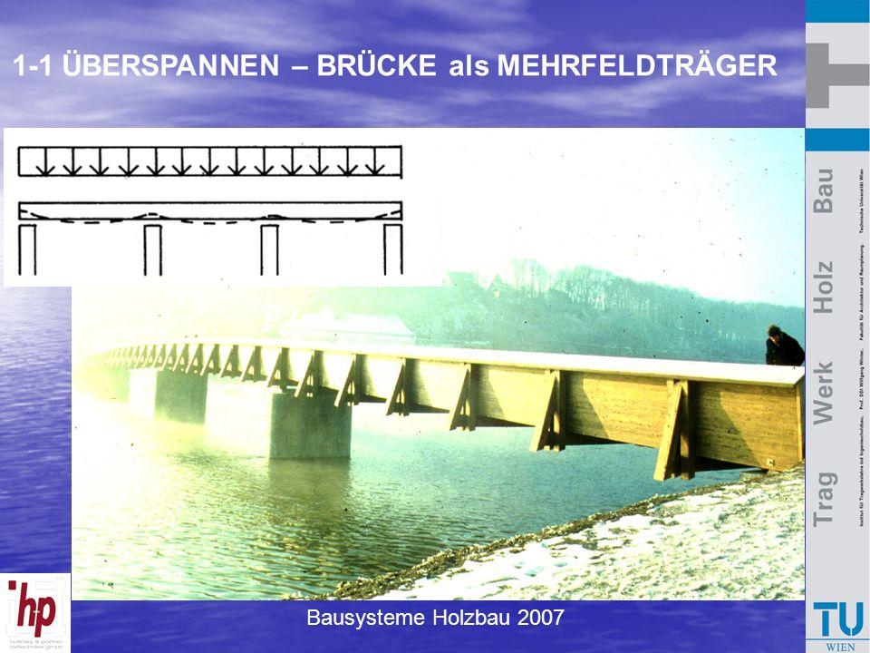Bausysteme Holzbau 2007 1-1 ÜBERSPANNEN – BRÜCKE als MEHRFELDTRÄGER