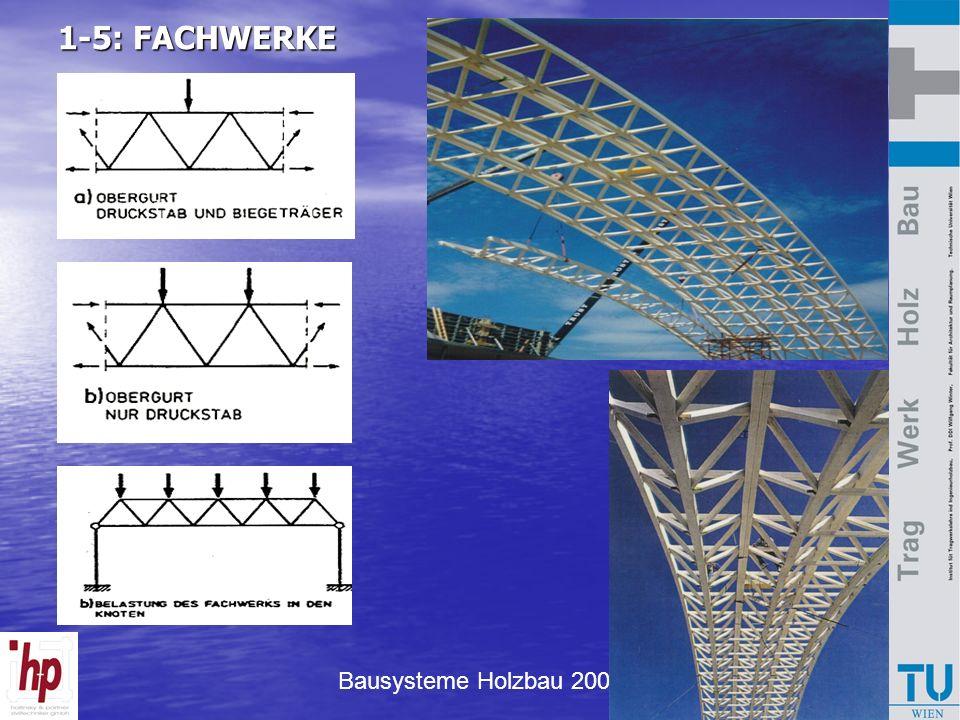 Bausysteme Holzbau 2007 1-5: FACHWERKE