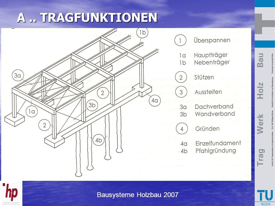 Bausysteme Holzbau 2007 A.. TRAGFUNKTIONEN
