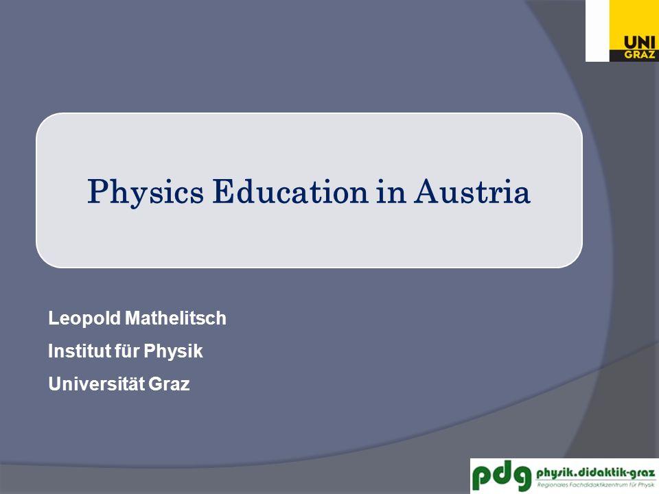 Bildungswesen Austrian System of Education