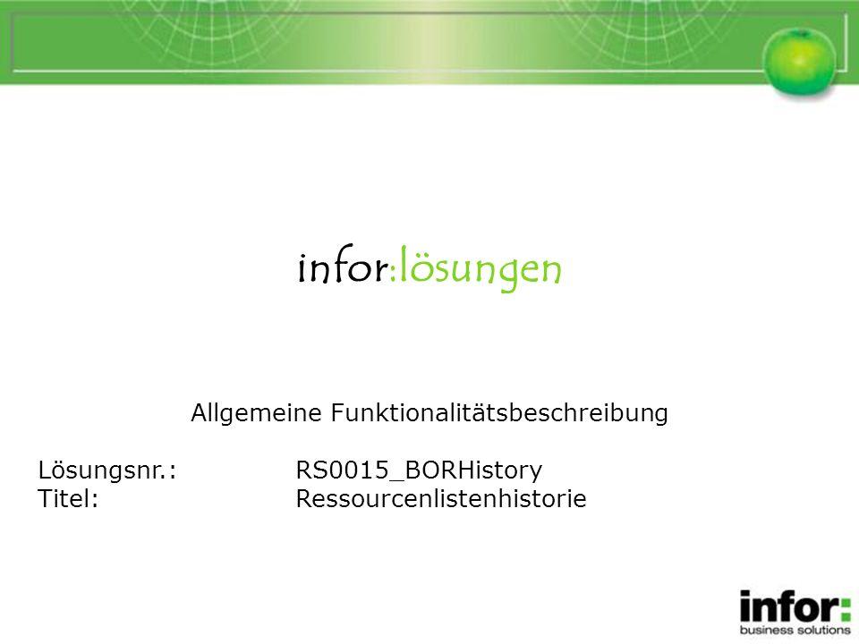 1.Die Änderungen in der Ressourcenlistenhistorie 3.