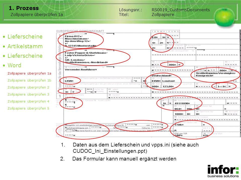 1.Ergänzungsblatt mit den Daten der zweiten Gruppe 1.