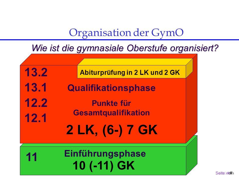 Seite:6 6 Organisation der GymO Was ist neu gegenüber der Sekundarstufe I.