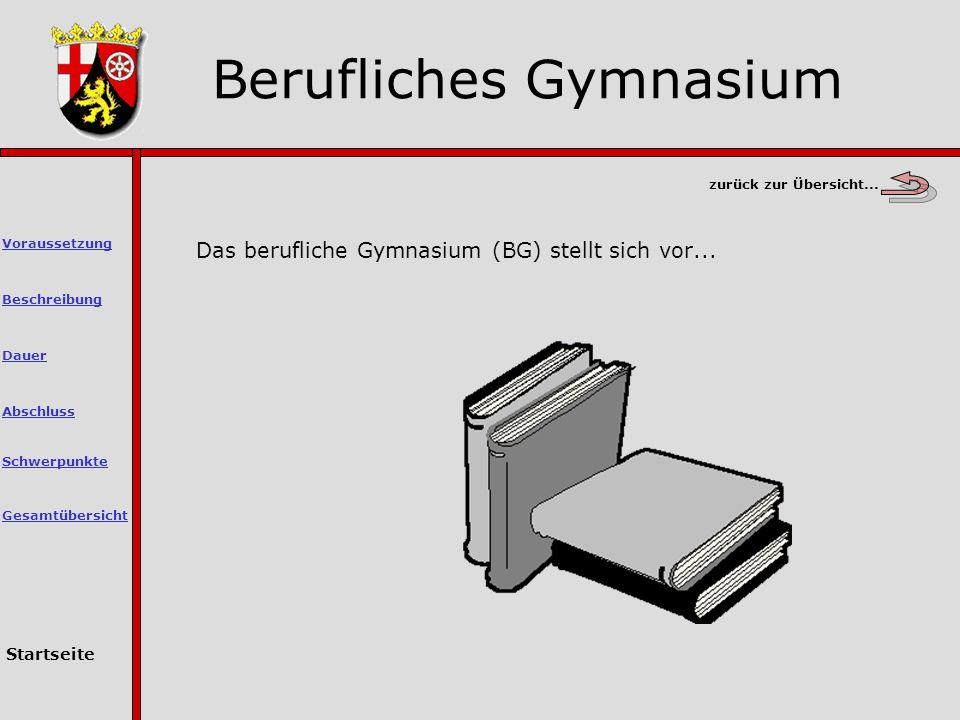 Berufliches Gymnasium Schwerpunkte Abschluss Dauer Voraussetzung Beschreibung Startseite Gesamtübersicht zurück zur Übersicht...