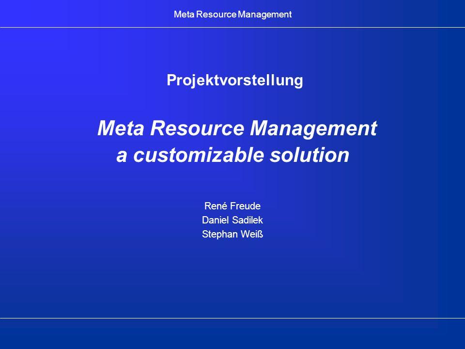 Meta Resource Management 2003-03-31SWP I2 Einsatzgebiet Kleine bis mittlere Unternehmen bzw.