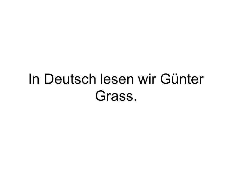 In Deutsch schreiben wir viel.