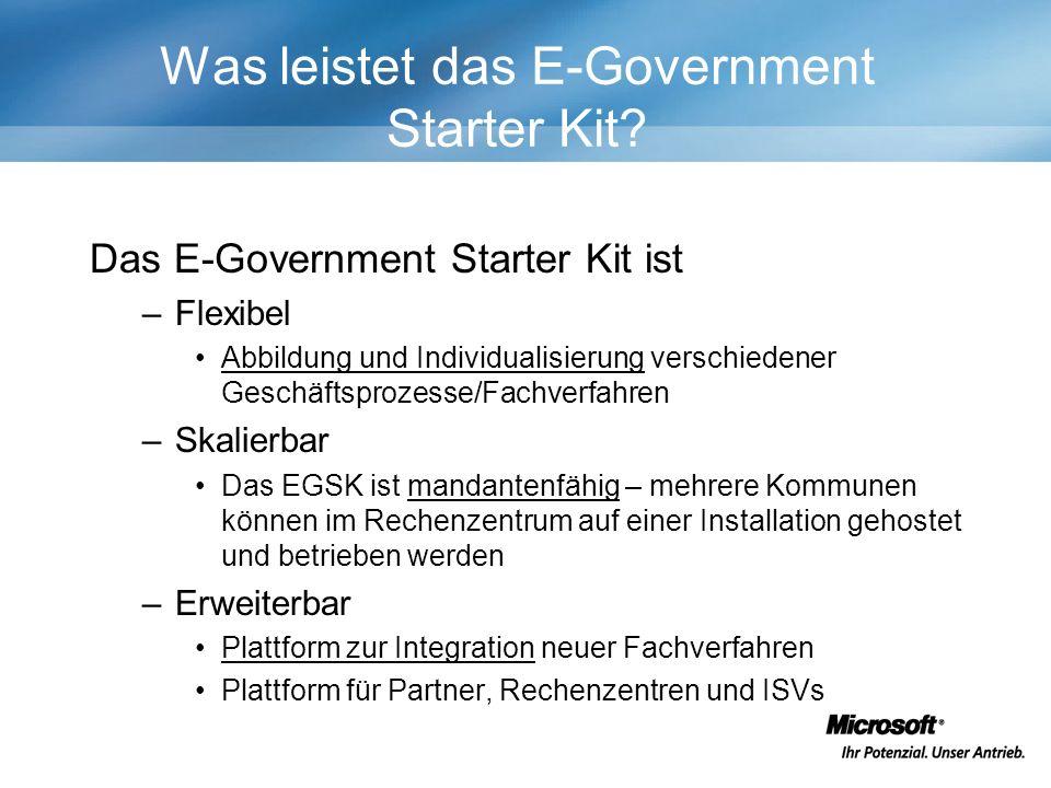 Was leistet das E-Government Starter Kit.