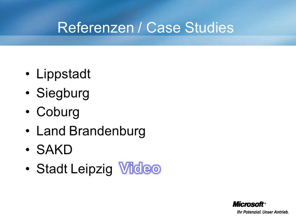 Referenzen / Case Studies Lippstadt Siegburg Coburg Land Brandenburg SAKD Stadt Leipzig