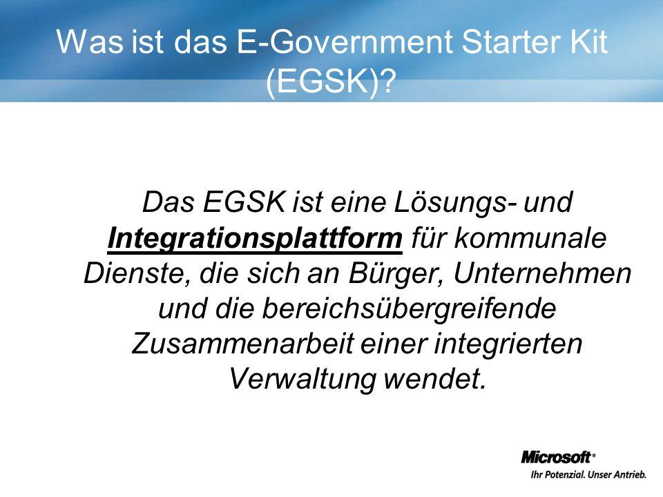 Was ist das E-Government Starter Kit (EGSK).