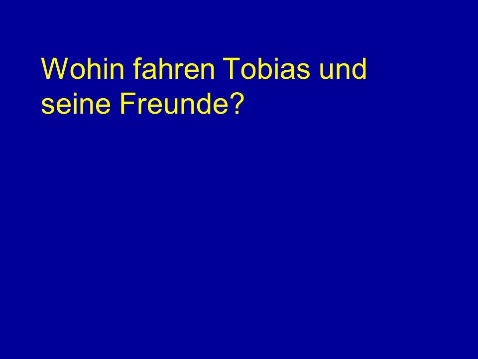 Wohin fahren Tobias und seine Freunde?