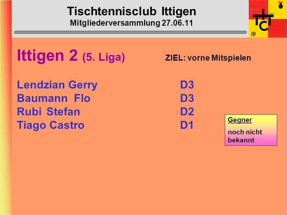 Tischtennisclub Ittigen Mitgliederversammlung 27.06.11 Ittigen 1 (2.