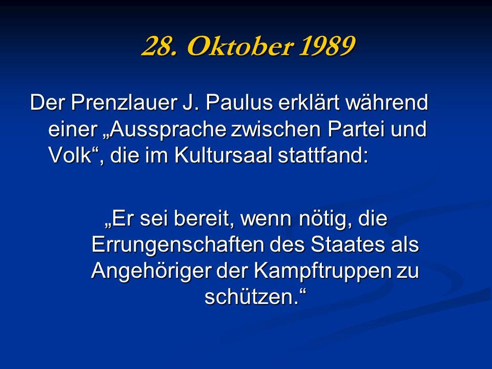 28. Oktober 1989 Der Prenzlauer J.