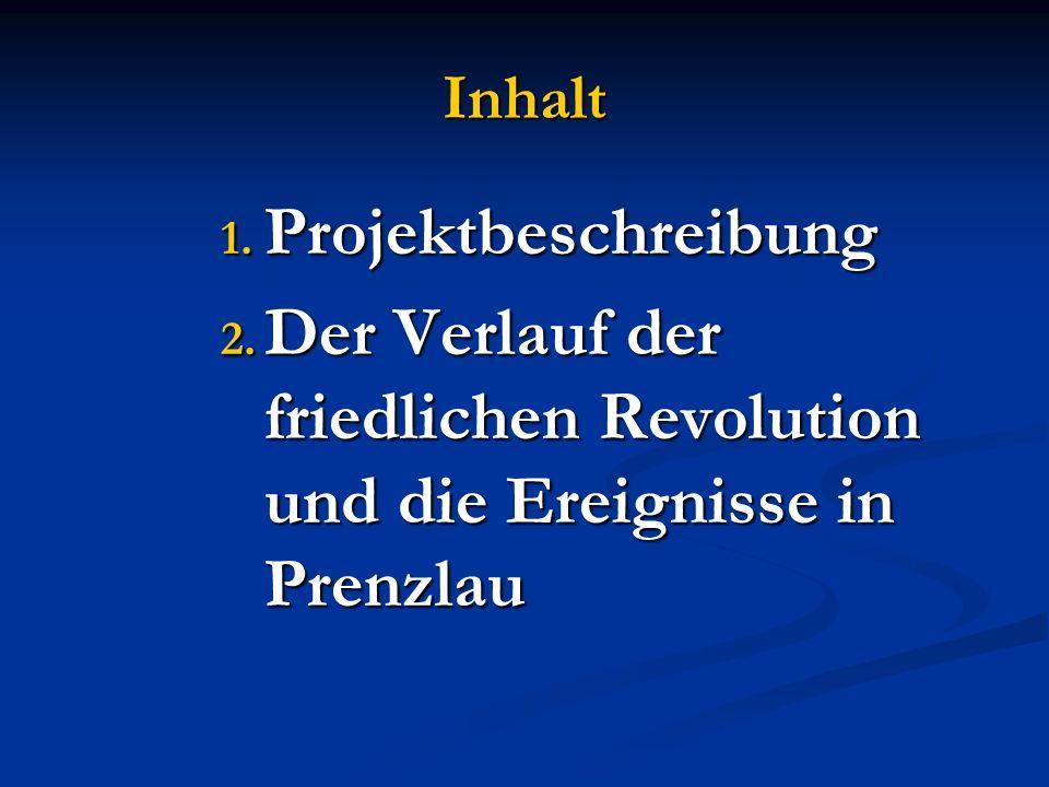 Inhalt 1. Projektbeschreibung 2.