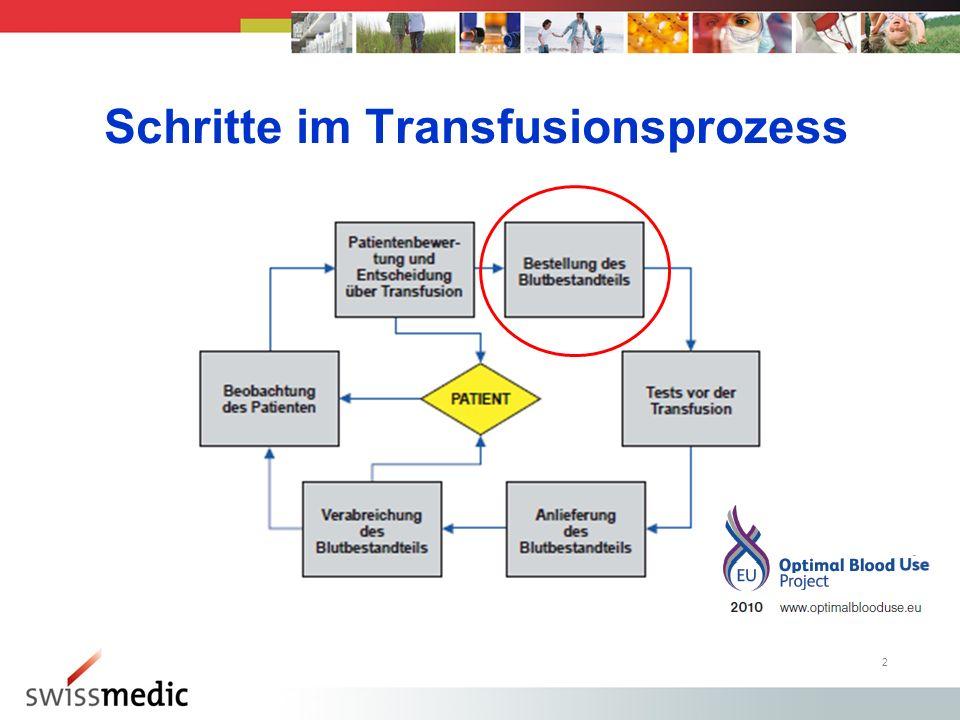 2 Schritte im Transfusionsprozess