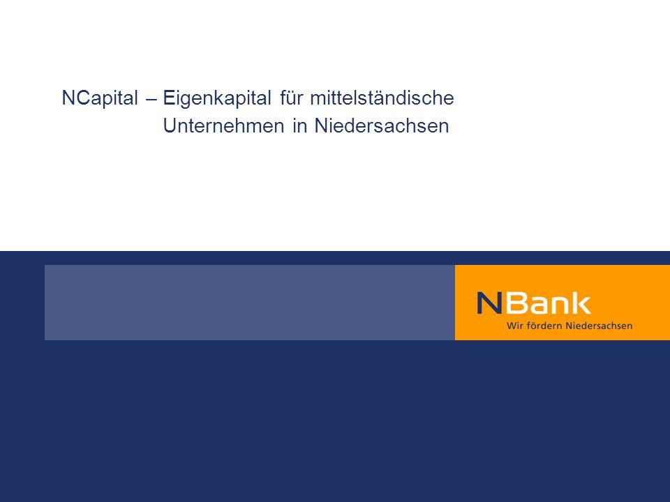 Agenda 1.Kerngedanke 2. Eigenkapitalaktivitäten der NBank 3.