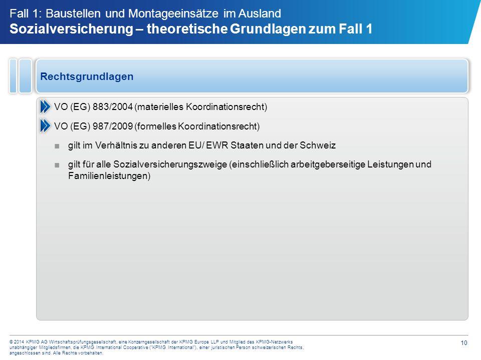 10 © 2014 KPMG AG Wirtschaftsprüfungsgesellschaft, eine Konzerngesellschaft der KPMG Europe LLP und Mitglied des KPMG-Netzwerks unabhängiger Mitglieds