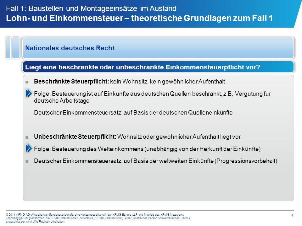 4 © 2014 KPMG AG Wirtschaftsprüfungsgesellschaft, eine Konzerngesellschaft der KPMG Europe LLP und Mitglied des KPMG-Netzwerks unabhängiger Mitgliedsf