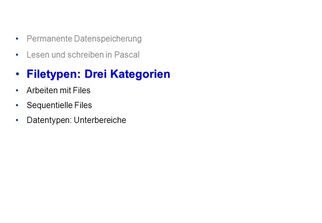 Programmieren und Problemlösen © Institut für Computational Science, ETH Zürich Abfangen des Fehlers bei fehlenden Dateien Mit der Funktion IOResult kann der Status der letzten E/A-Operation abgefragt werden.