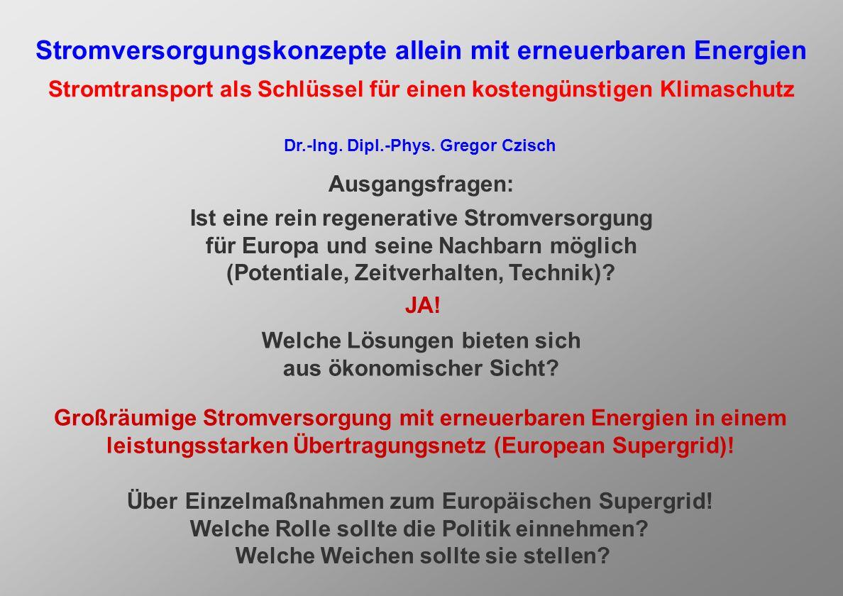 Mit Einzelmaßnahmen zum Europäischen Supergrid Vorschlag zur Vermeidung der Schweizer Stromlücke durch Offshore-Wind- Wasserkraft-Kooperation 2007 bei der Kommission für Umwelt, Raumplanung und Energie (UREK) des Schweizer Nationalrats und des Schweizer Ständerats Baltic Ring als weiterer Baustein eines Europä- ischen HGÜ-Supergrids
