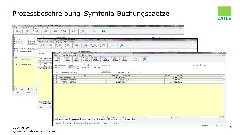 ©DATEV eG; alle Rechte vorbehalten 6 Prozessbeschreibung Konvertierungstool 2014-05-19