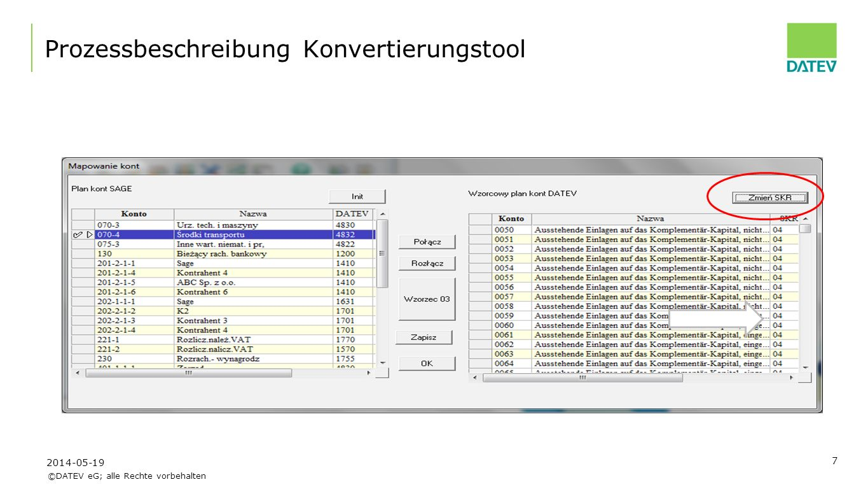 ©DATEV eG; alle Rechte vorbehalten 18 Controllingreport: Liquidität 2014-05-19