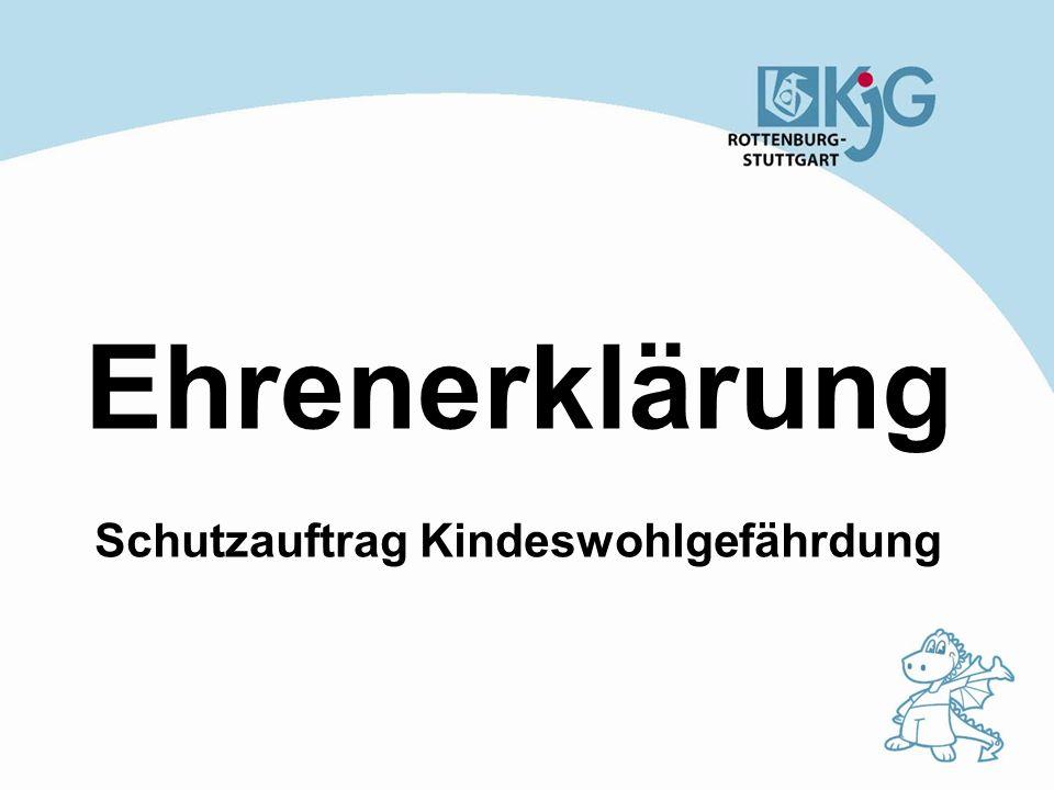 Ehrenerklärung Die kirchliche Jugendarbeit in der Diözese Rottenburg- Stuttgart bietet eine Gemeinschaft, in der Glaube, ganzheitliches Lernen und Handeln Raum finden.