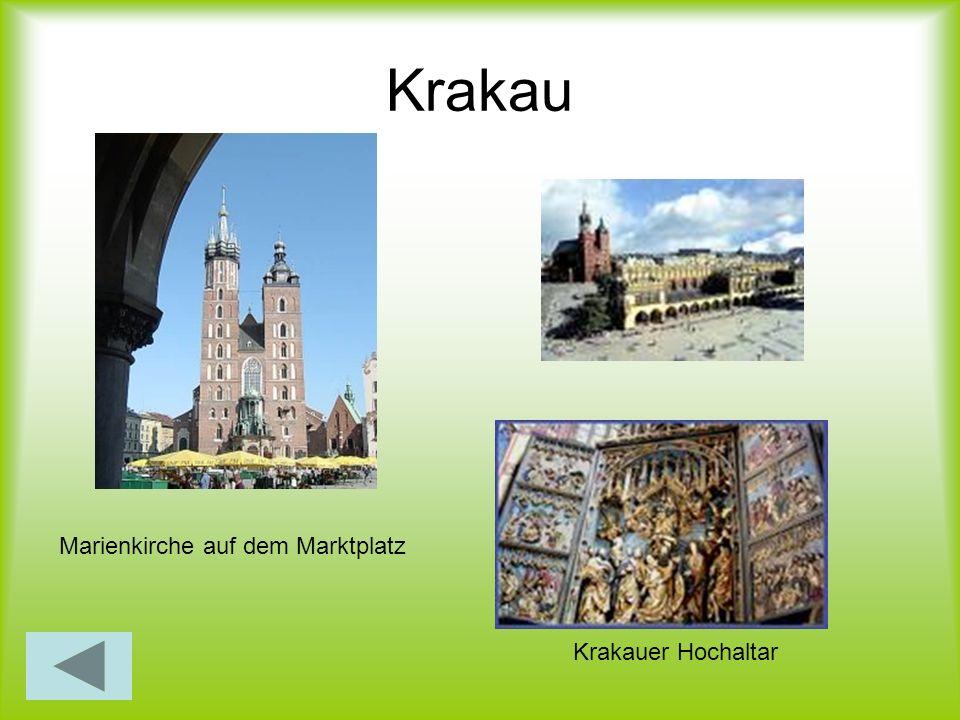 Krakau Krakauer Hochaltar Marienkirche auf dem Marktplatz