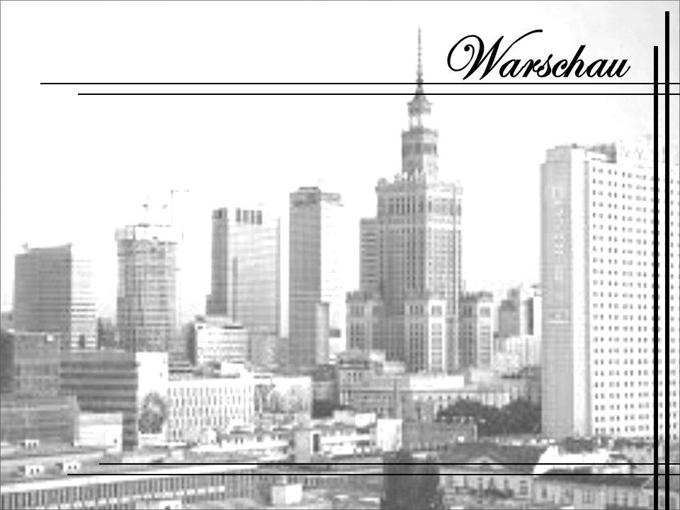Warschau - die Hauptstadt und größte Stadt Polens, in der zentral- östlichen Teil des Landes, der Zentralafrikanischen Lowland Masowien, Masowien, an der Weichsel.