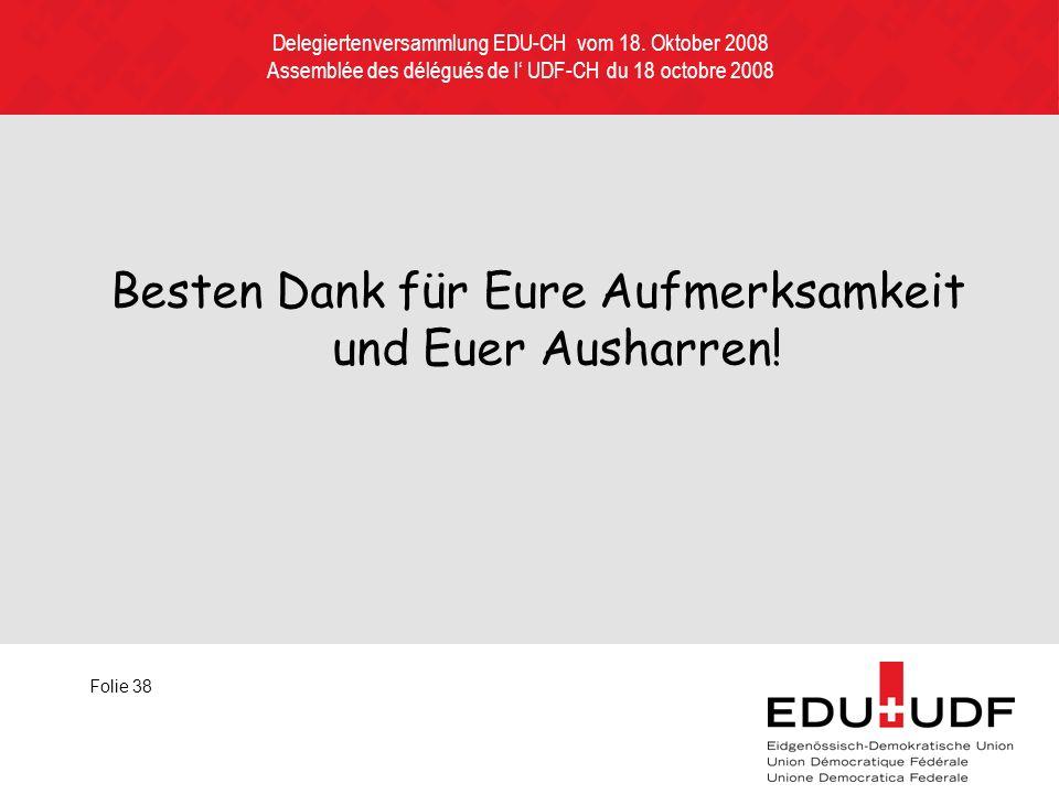 Delegiertenversammlung EDU-CH vom 18.