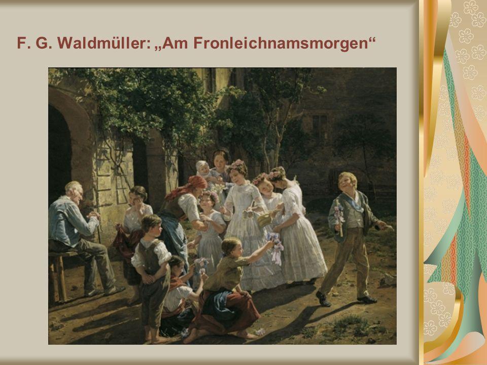 F. G. Waldmüller: Am Fronleichnamsmorgen