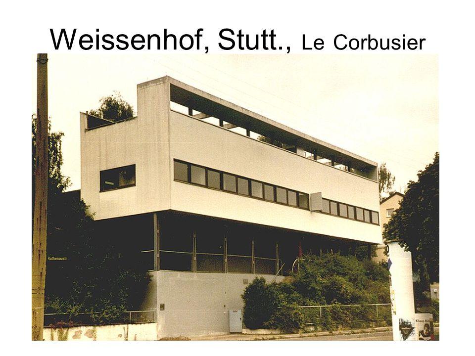 Weissenhof, Stutt., Le Corbusier