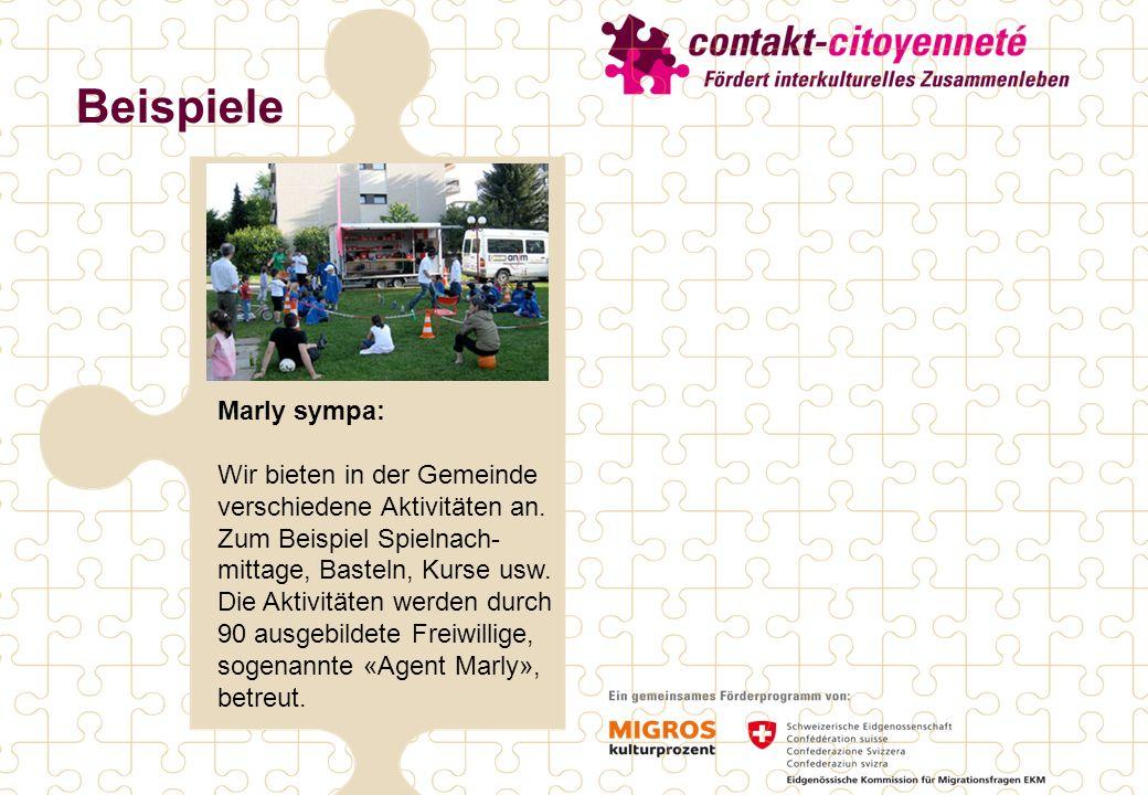 Beispiele Marly sympa: Wir bieten in der Gemeinde verschiedene Aktivitäten an.