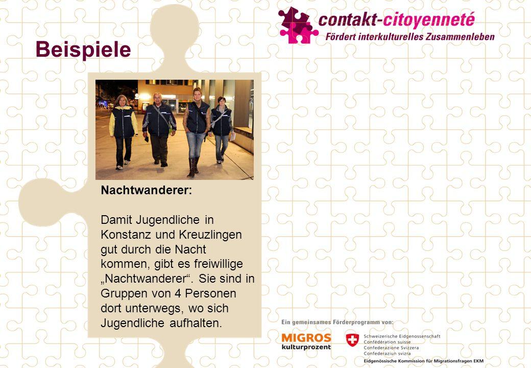 Beispiele Nachtwanderer: Damit Jugendliche in Konstanz und Kreuzlingen gut durch die Nacht kommen, gibt es freiwillige Nachtwanderer.