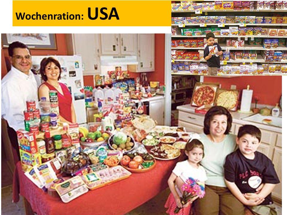 Wochenration: USA