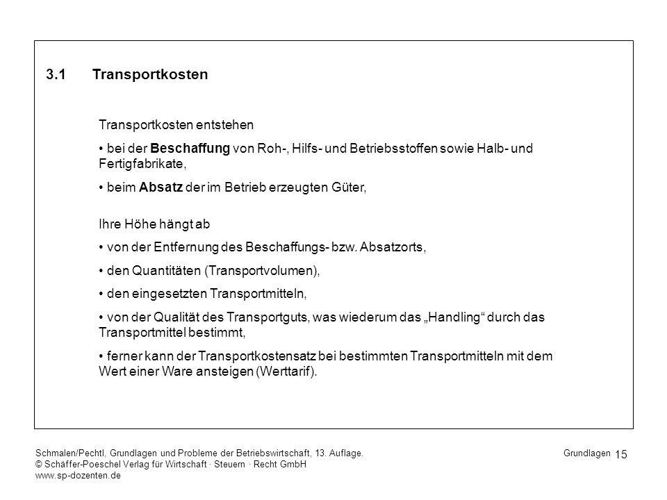 15 Schmalen/Pechtl, Grundlagen und Probleme der Betriebswirtschaft, 13. Auflage. © Schäffer-Poeschel Verlag für Wirtschaft Steuern Recht GmbH www.sp-d