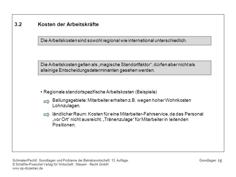 16 Schmalen/Pechtl, Grundlagen und Probleme der Betriebswirtschaft, 13. Auflage. © Schäffer-Poeschel Verlag für Wirtschaft Steuern Recht GmbH www.sp-d