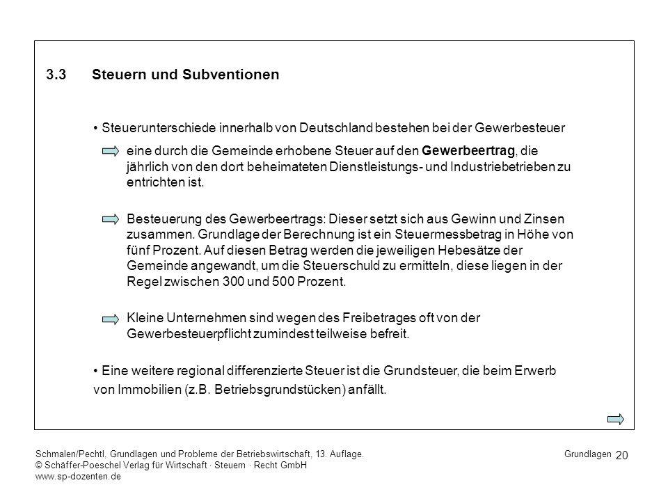 20 Schmalen/Pechtl, Grundlagen und Probleme der Betriebswirtschaft, 13. Auflage. © Schäffer-Poeschel Verlag für Wirtschaft Steuern Recht GmbH www.sp-d