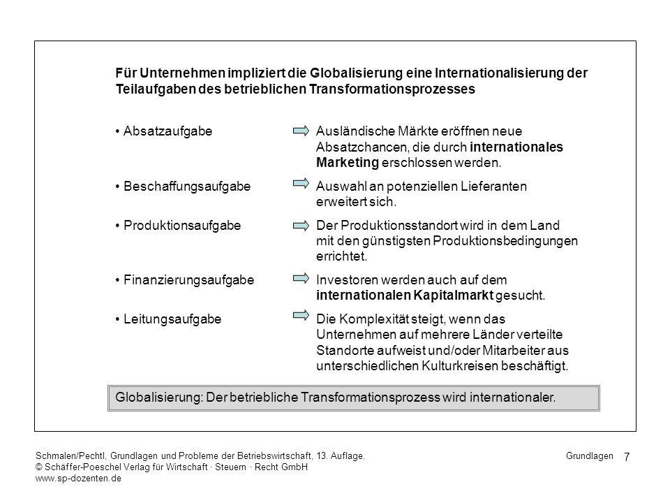 18 Schmalen/Pechtl, Grundlagen und Probleme der Betriebswirtschaft, 13.