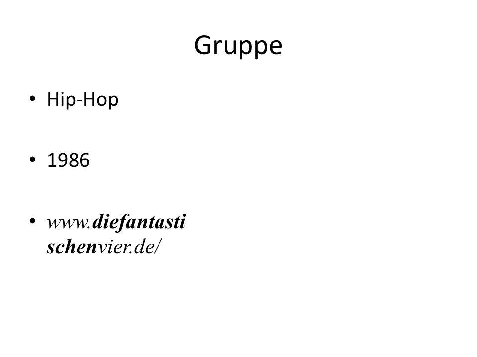 Gruppe Hip-Hop 1986 www.diefantasti schenvier.de/