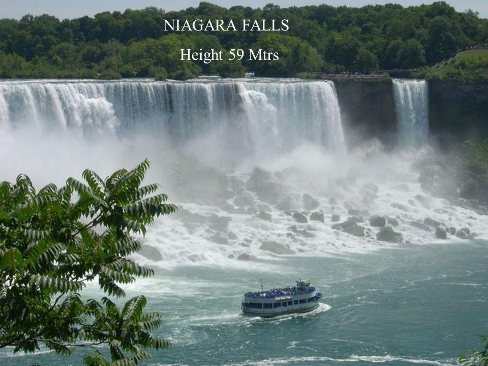 NIAGARA FALLS Height 59 Mtrs