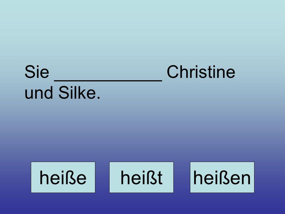 Sie ___________ Christine und Silke. heißeheißtheißen