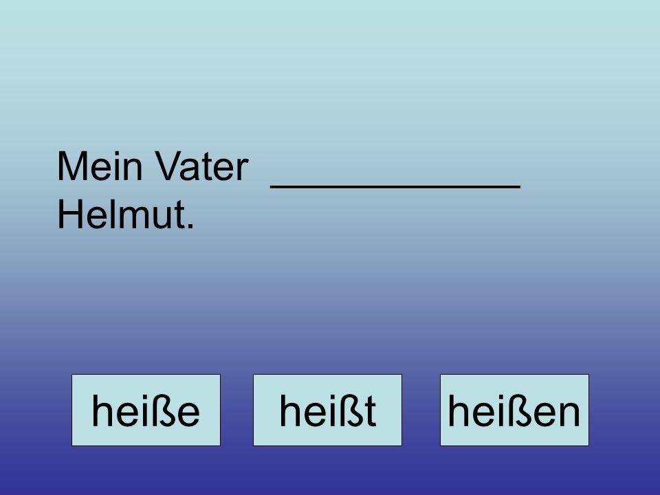 Mein Vater ___________ Helmut. heißeheißtheißen