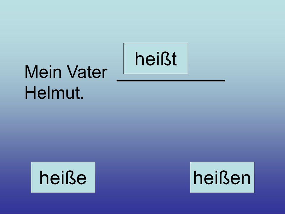 Mein Vater ___________ Helmut. heiße heißt heißen